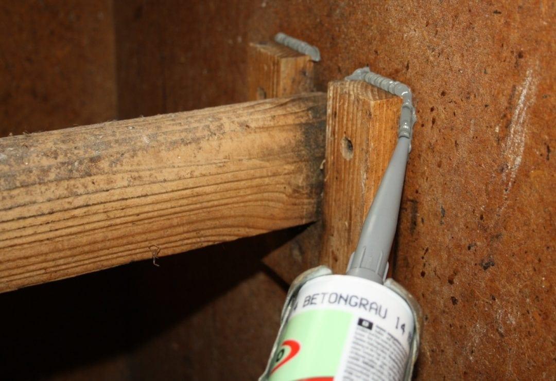 Verstecke der Milben verschießen