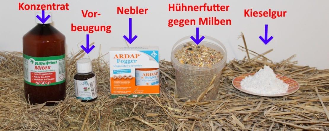 Mittel gegen Milben im Hühnerstall