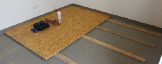 Der Hühnerstall Boden: Materialien