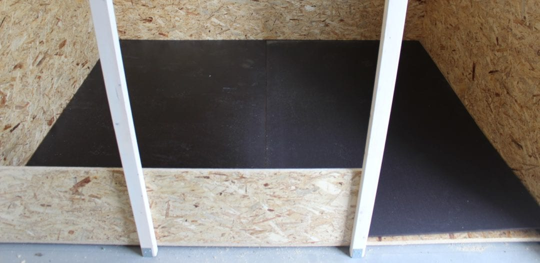Siebdruckplatten als Hühnerstall Boden