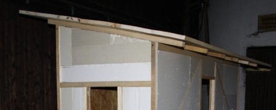 Dach am Hühnerstall